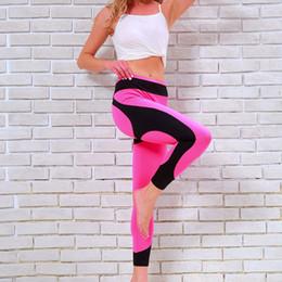 $enCountryForm.capitalKeyWord Canada - Fitness Elastic Yoga Pants Women Sports Leggings Breathable Stitching Mesh Running Legging Female High Waist Gym Jogging Suits