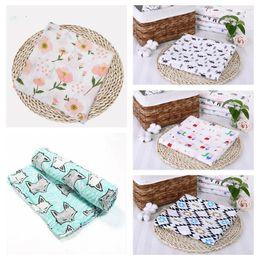 Discount sleeping bag robe - Baby Muslin Blankets Newborns Fox Blanket Baby Print Sleeping Bags Toddler Winter Wraps Infant Swaddle Towel Swaddle Bla