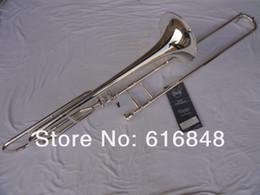باخ 42BO الفضة مطلي العلامة التجارية نوعية جيدة Bb / F نغمة Sandhi تينور الترومبون صك الموسيقى للطلاب حرية الملاحة