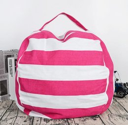 24 inch bag Canada - Housekeeping 5 styles 24 inch hot Storage Bean Bags Plush Toys Beanbag Chair Bedroom Stuffed Animal Room Mats Portable Clothes Storage Bag