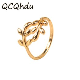 Accessories Rings For Girls Canada - Two colors Tree Branch Leaves Ring for Women Girl Wedding Rings Jewelry Birthday Gifts for Friends Fashion Accessories