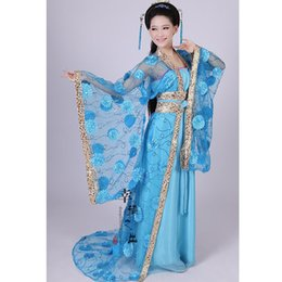 China women's flower yarn hanfu tang suit princess clothing ancient traditional Chinese dance costumes supplier ancient chinese clothes suppliers