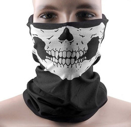 Chinese  Skull Bandana Bike Motorcycle Helmet Neck Face Mask Paintball Ski Sport Headband Hot Sale Free Shipping manufacturers