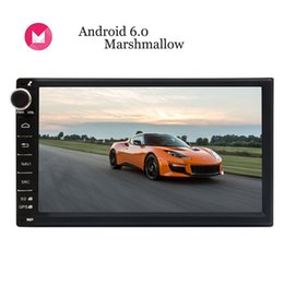 Controlled Screens NZ - Android 6.0 Marshmallow Double Din Car Stereo 7'' Digital Touch Screen Autoradio Head Unit GPS Navigation Steering Wheel Control no car dvd