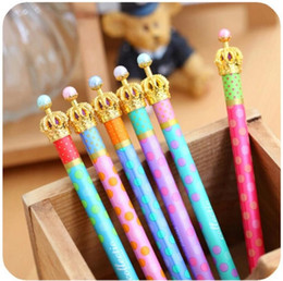 crown pen stationery 2019 - Gel pen Crown dream Dot & Dots Kawaii Stationery Caneta Novelty favor gift school supplies 30 pcs Lot free shipping chea