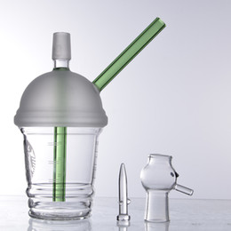 Starbucks Water Pipe Oil Rig NZ - 2018 Starbucks cup sandblasted glass bongs water pipes hookah concentrate oil rig bong glass dome and nail Hookah