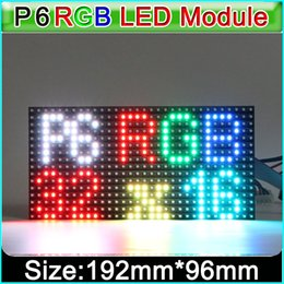 $enCountryForm.capitalKeyWord NZ - P6 SMD indoor full color LED display module,SMD 3in1 RGB P6 *** LED display video module, Constant driving 1 8 Scan,192*96mm