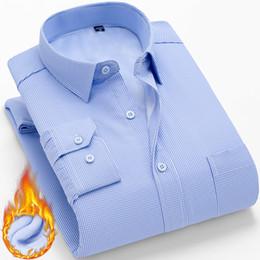$enCountryForm.capitalKeyWord Australia - Slim Design Formal Casual Male Dress Shirt Winter Warm Long Sleeve Shirt Men New Fashion BrandPlus Size