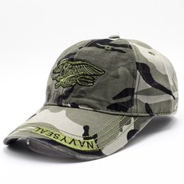 Caps men military online shopping - For Men And Women Navy Seal Cap Camouflage Embroidery Washable Designer Hats Fashionable Outdoor Sports Casquette Top Quality jx BB