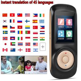 Traductor de voz T2s Original Portátil Tiempo real Instantánea Voz inteligente Traducción simultánea 45 Idiomas traducción