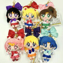 Sailor Mars Figure NZ - New 13CM 25th Anniversary Sailor Moon Mars Mercury Jupiter Venus Chibiusa Plush Doll Pendant