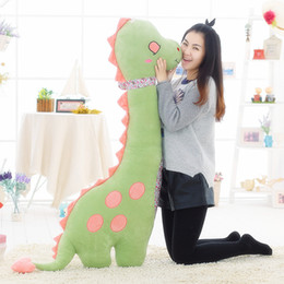 dinosaur toys for babies NZ - Dorimytrader Kawaii Anime Dinosaur Plush Toy Large Soft Cartoon Dinosaurs Doll Pillow for Baby Gift Creative Decoration 140cm 55inch DY50245