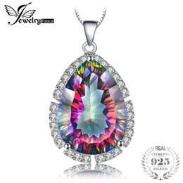 Mystic topaz stones online shopping - 12ct Genuine Mystic Rainbow Fire Topaz Pendant Charm Solid Sterling Silver Fine Gem Stone Jewelry Women New Brand Hot