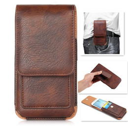 Leather Belt Holster Case NZ - Universal Cell Phone Cases For Iphone XS Samsung Galaxy S10 Belt Clip Holster Leather Pouch Card Holder Waist Pack Bag Flip Mobile Covers