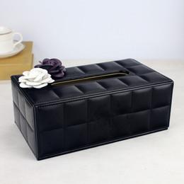 Fashion style Bright drill the texture of paper towel box 2020 fashion tissue box on Sale