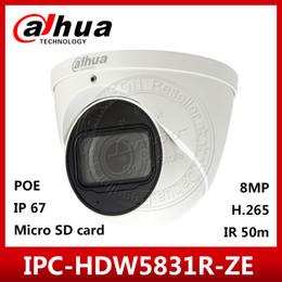 Motorized caMeras online shopping - Dahua Original IPC HDW5831R ZE K MP POE mm mm motorized Lens IR50m IP67 Security Camera SD Card Built in Mic