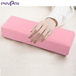 nail cushion pillow NZ - PinPai Lastest Nail Art Hand Rest Cushion White&Pink Hand Pillow Faux Leather Soft Stain-resistant Manicure Pillow Salon Tools