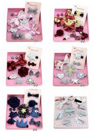 $enCountryForm.capitalKeyWord Australia - 5pcs New Design Girls Kids Lovely Hairclip Heart Star Bow Crown Fur Ball Flower Print Ribbon Bow Hair Accessory LH685