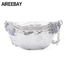 Silver Sequin pillowS online shopping - Waist Bag Women Silver Sequins  Waist Fanny Pack Bags Designer 6ee992a9e6