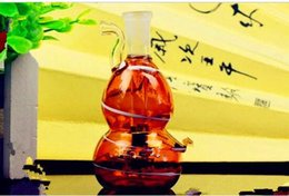 Bong Gourd NZ - Color Stripe, Water Bottle Gourd ,Wholesale Bongs Oil Burner Pipes Water Pipes Glass Pipe Oil Rigs Smoking Free Shipping