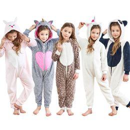 Cartoon Rabbit Hoodies Australia - 5styles Kids Unicorn Onesie Unisex Children Halloween Costume Hoodie Pajamas Cartoon Rabbit Panda Xmas Elk One-Piece Homewear Rompers FFA862