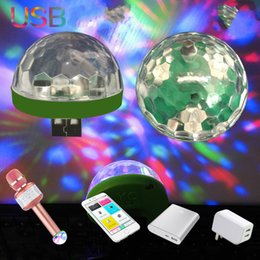 Bühne Lichteffekt LED USB Handy Laser Projektor Lichter DJ Disco Ball Stimme Aktiviert Mini Home Entertainment Mikrofon RGB Lampen