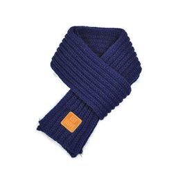 Girls Fashion Scarves UK - Fashion Children Knitted Scarf Solid Color Thicken Winter Keep Warm Girls Neck Scarves XRQ88