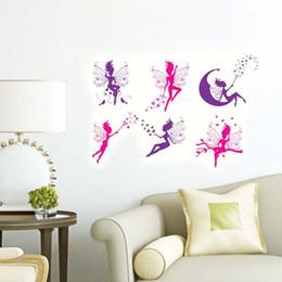 Nouveau Amovible Stickers Muraux Fleur Fée Décoration Décoration Stickers Muraux pour Chambre Des Enfants Maison DIY en Solde