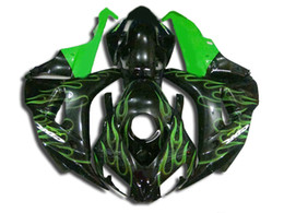 $enCountryForm.capitalKeyWord UK - Free shipping Fairings for Honda CBR1000RR 2006 2007 black green flames Injection molding fairing kit CBR 1000 RR 06 07 VC29