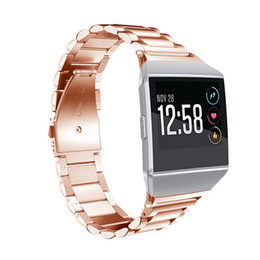 Discount for fitbit ionic 2018 Newest Smart Accessories for Fitbit Ionic Stainless Steel Strap Smart Watch Band Metal Replacement Band for Fitbit