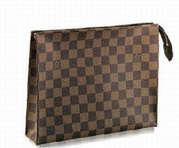 Long Cosmetic Bag Australia - Damier Cosmetic bag N47543 LONG CHAIN WALLETS KEY CARD HOLDERS PURSE CLUTCHES EVENING