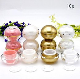 sample lipsticks Canada - 10g cream jar 4colors For Lip balm Lipstick Empty Spherical Round lip gloss jar Mini sample container