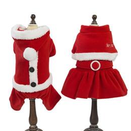 Cão de Cachorro do animal de Estimação Papai Noel Roupas de Inverno Quente Casaco Traje Vestuário Decoração de Festa de Natal Eventos Pet Cães Acessórios em Promoção