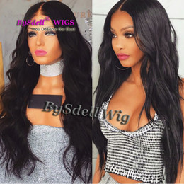 premium synthetic lace wigs 2021 - Hot Sale Synthetic Black Hair Lace Front Wig Premium Natural Hair Loose Wave Glueless Lace Front Wigs for Black Women