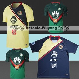 NEW Arrived TOP Quality 2018 2019 LIGA MX Club America soccer Jerseys home  away Third Green Yellow 18 19 Camisetas O.Peralta football shirts 341763c25
