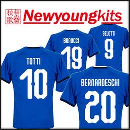 404c2cb3c 2018 19 Italy home Jersey blue BUFFON World Cup Football uniforms TOTTI De  Rossi Bonucci Verratti Chiellini INSIGNE Belotti soccer shirt