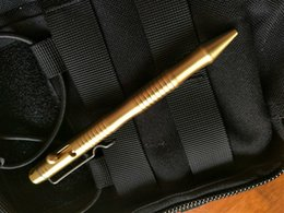 Camping Gear Box NZ - EDC Gear Self Defense Pull Bolt Brass Pens Tactical Camping Survival Pens CNC Process Hardness Tool With Gift Box A545
