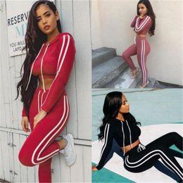 long sports bras 2018 - Womens Sport Gym Long Sleeve Vest Bra Sport Legging Pants Ladies Outfit Wear Set cheap long sports bras