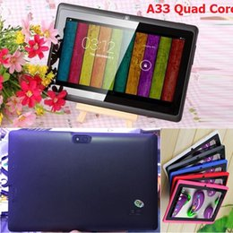 A33 Quad Core Tablet Australia - 2018NEW Q8 7 inch tablet PC A33 Quad Core Allwinner Android 4.4 KitKat Capacitive 1.5GHz 512MB RAM 8GB ROM WIFI Dual Camera Flashlight Q88