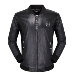 Flut Motorrad Lederjacken herren Reißverschluss PP Jacke Mäntel Winter Mann Lässige Mode Langarm Brief Stickerei Tigerkopf Oberbekleidung 03 on Sale
