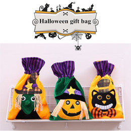 Childrens Party Bags Wholesale NZ - Halloween Decorations Non-woven Creative Can Bundle Tote Bag Childrens Holiday Pumpkin Gift Bag for Party Performance Dress Up