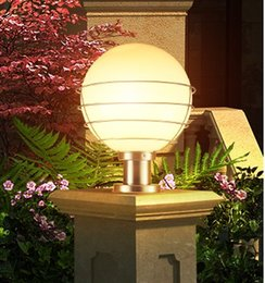 Balls Bra Australia - Outdoor lighting ball column light outdoor pillar garden lamp post white transparent acryl E27 Bulb outside pole street post bra LLFA