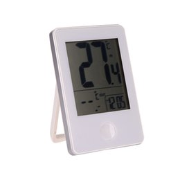 Wholesale Indoor Outdoor Thermometer UK - Indoor Outdoor Thermometer Wireless Electronic Digital Thermometer Clock Temperature Measurement with Transmitter