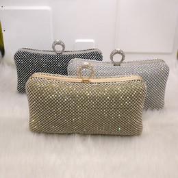 $enCountryForm.capitalKeyWord Australia - Rhinestone women clutch bags diamonds finger ring ladies vintage evening bags crystal wedding bridal handbags purse bags holder Y18102604