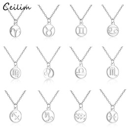 StainleSS Steel SignS online shopping - 1PC Zodiac Pendant Necklace Constellation Sign Signs Necklaces Silver Chain For Women Constellation Neckace Jewelry Gift