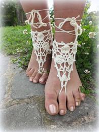 $enCountryForm.capitalKeyWord Australia - Hand Crochet Barefoot Sandals, Nude shoes, Foot Jewelry, Wedding, Victorian Lace, Sexy, Anklet , Bellydance,Beach Footwear..