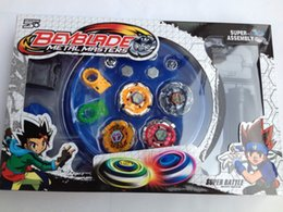 Beyblades NZ - Free shipping beyblade set(4 beyblades+2 launchers+4 tips+2 bolts +1grip+1arena)beyblade with arena as children gift