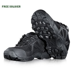 Camp Shoes For Men Australia - Free Soldier Outdoor Sports Camping Hiking Men Shoes Mountain Non -Slip Breathable Tactical Boots for Men Outdoor Shoes
