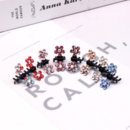 Hair Jaw Clips Wholesale Australia - Fashion Baby Girls Small Claw Cute Color flower Jaw Clip Children Hairpin Hair Accessories