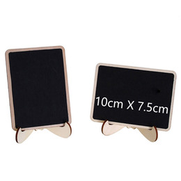Wholesale Mini Multi Blackboard with Stand Wooden Chalkboard Message Table Number Wedding Decoration Party Decor Marriage Supplies cm